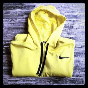 Nike Therma-Fit yellow hoodie, size XL